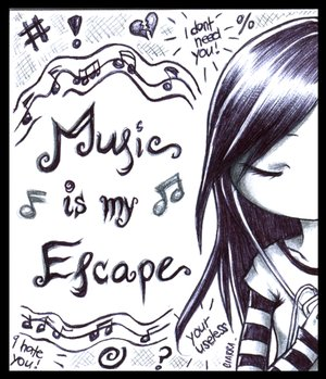 __Music_is_my_Escape___by_F_AYN_T